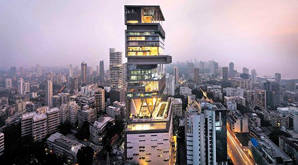 Antilla Bombay, maison la plus chère du monde Bombay, Inde