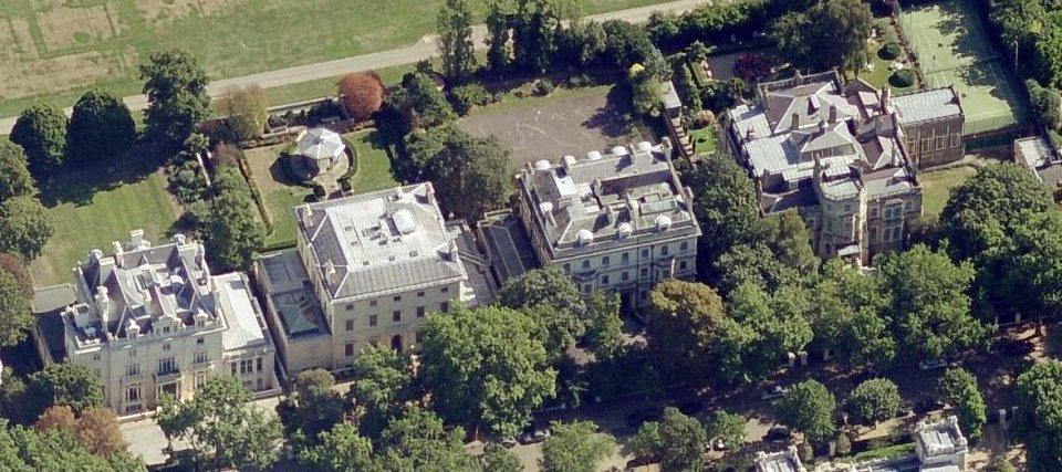 Kensington Palace Gardens, Londres, Grande-Bretagne