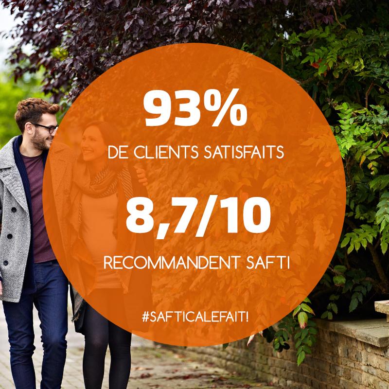 93% de clients satisfaits de SAFTI en 2018 !