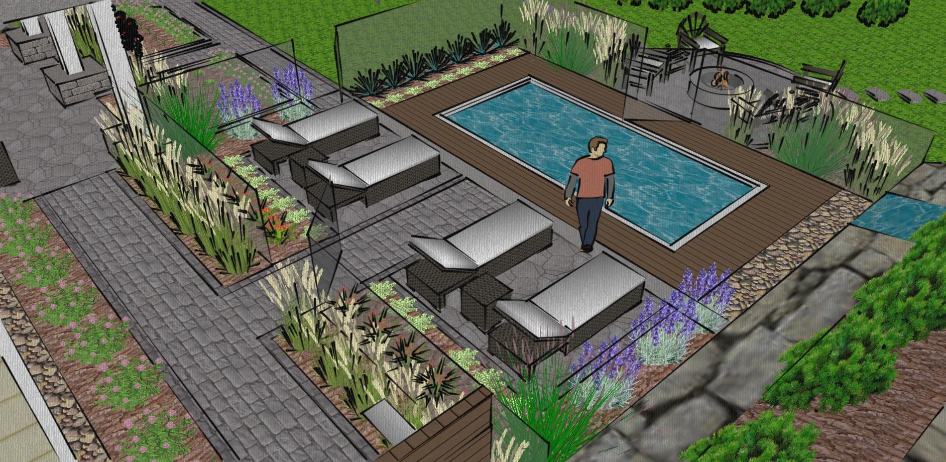 Plan d'aménagement de jardin