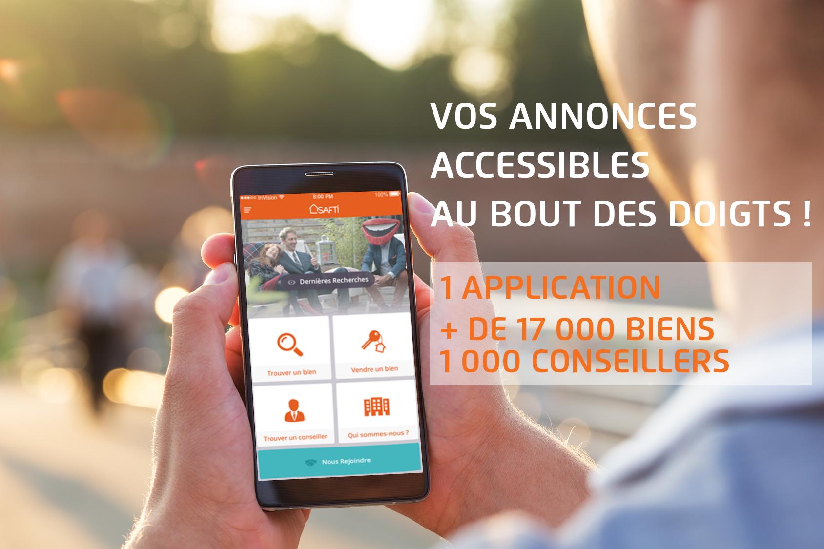 Appli Mobile SAFTI Immobilier sur Android et iPhone